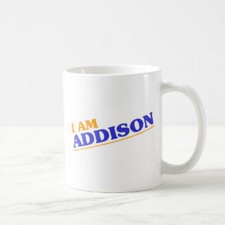 私はAddisonです コーヒーマグカップ