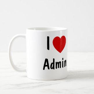 私はAdminを愛します コーヒーマグカップ