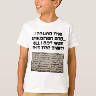私はAfikomanを見つけました! 過ぎ越しの祝いのMatzah Tシャツ