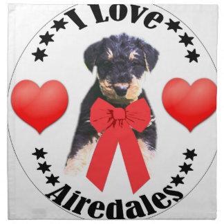 私はAIREDALESを愛します! ナプキンクロス