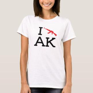 私はAK -カラシニコフ自動小銃-を女性ベビードール愛します Tシャツ