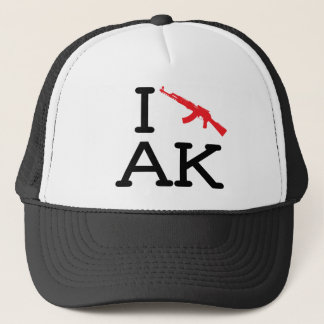 私はAK -カラシニコフ自動小銃-を帽子愛します キャップ