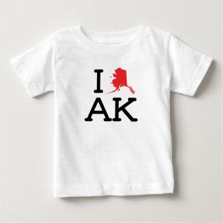 私はAK -州のベビーT --を愛します ベビーTシャツ