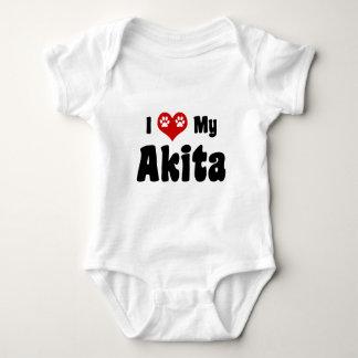 私はAkitasを愛します ベビーボディスーツ