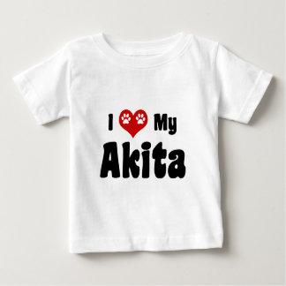 私はAkitasを愛します ベビーTシャツ