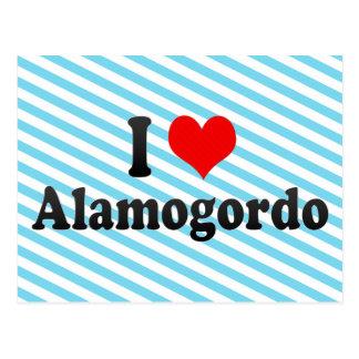 私はAlamogordo、米国を愛します ポストカード