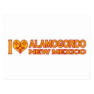 私はAlamogordo、NMを愛します ポストカード