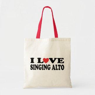 私はALTO音楽ギフトを歌うことを愛します トートバッグ