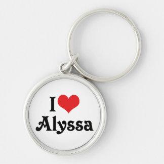 私はAlyssaを愛します キーホルダー