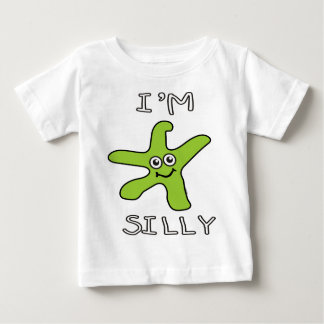 私はam_silly_shirt_green ベビーTシャツ