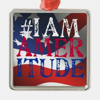 私はAmeritudeのギアです メタルオーナメント