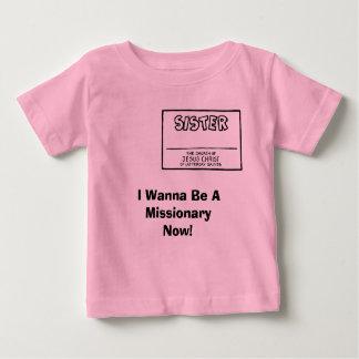 私はAMissionaryであり今たいと思います! 女の子 ベビーTシャツ