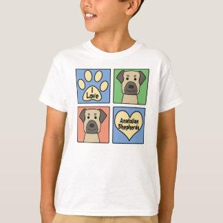 私はAnatolian羊飼いを愛します Tシャツ
