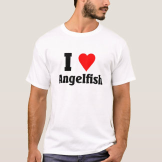 私はAngelfishを愛します Tシャツ