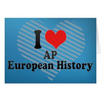 私はAPのヨーロッパ人の歴史を愛します カード