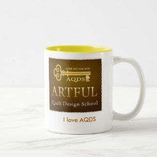 私はAQDSのマグを愛します ツートーンマグカップ