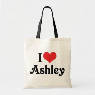 私はAshleyを愛します トートバッグ