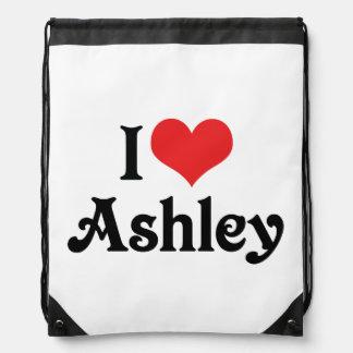 私はAshleyを愛します ナップサック