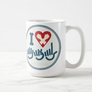 私はASLのマグを愛します コーヒーマグカップ