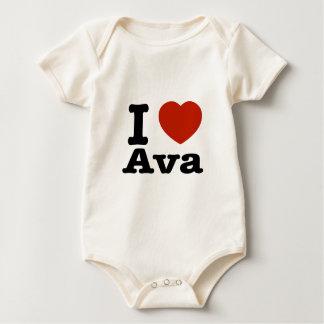 私はAvaを愛します ベビーボディスーツ