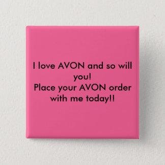 私はAVONを愛し、従って! AVONのあなたのordを…置いて下さい 5.1cm 正方形バッジ