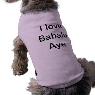 私はBabaluを賛成愛します ペット服
