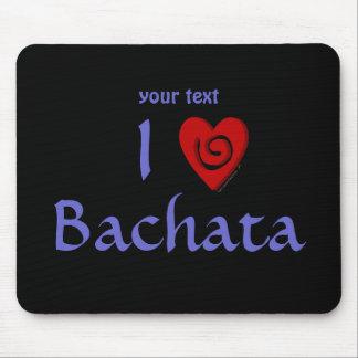 私はBachataのハートのラテン系の踊りのカスタムを愛します マウスパッド