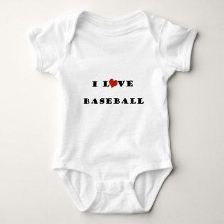 私はBaseball.pngを愛します ベビーボディスーツ