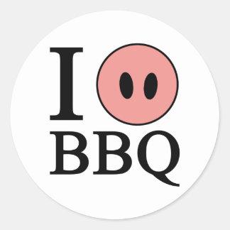 私はBBQを愛します ラウンドシール