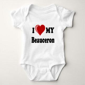 私はBeauceron私の犬を愛します ベビーボディスーツ