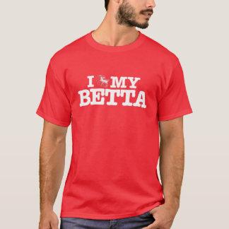 私はBettaの私のTシャツを愛します Tシャツ