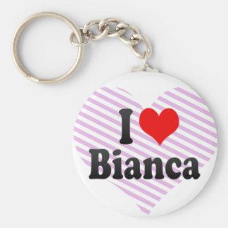 私はBiancaを愛します キーホルダー