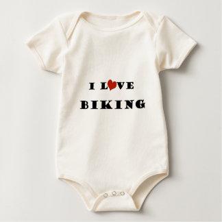 私はBiking.pngを愛します ベビーボディスーツ