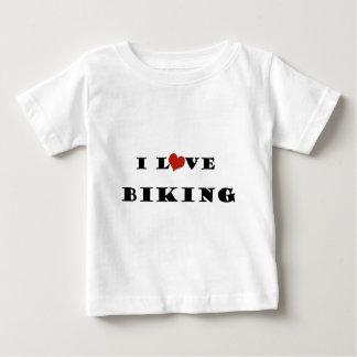 私はBiking.pngを愛します ベビーTシャツ
