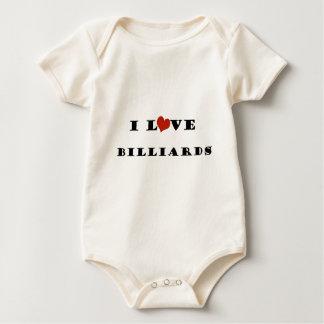 私はBilliards.pngを愛します ベビーボディスーツ
