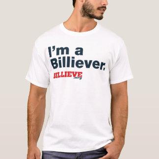 """""""私はBilliever""""の白いTシャツです Tシャツ"""