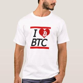 私はBITCOINを愛します Tシャツ