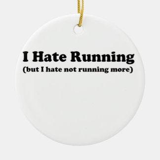 私はblack.jpgを走ることを憎みます セラミックオーナメント
