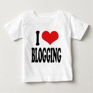 私はBlogging愛します ベビーTシャツ