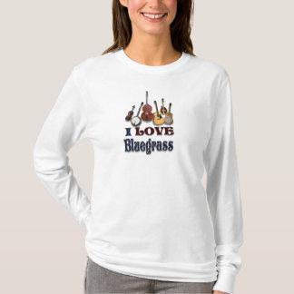 私はBLUEGRASSのTシャツを愛します Tシャツ
