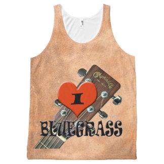 私はBLUEGRASSを愛します オールオーバープリントタンクトップ