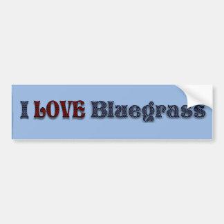 私はBLUEGRASS-BUMPERのステッカーを愛します バンパーステッカー