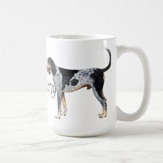 私はBluetickの私のCoonhoundを愛します コーヒーマグカップ