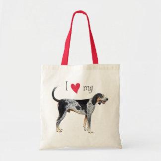 私はBluetickの私のCoonhoundを愛します トートバッグ