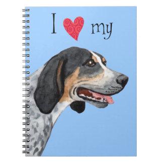 私はBluetickの私のCoonhoundを愛します ノートブック