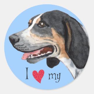 私はBluetickの私のCoonhoundを愛します ラウンドシール