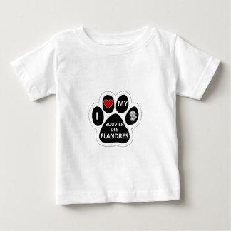 私はBouvers私のDes Flandresを愛します ベビーTシャツ