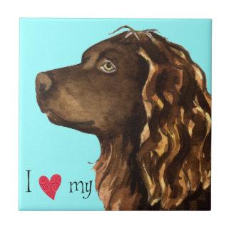 私はBoykinの私のスパニエル犬を愛します タイル