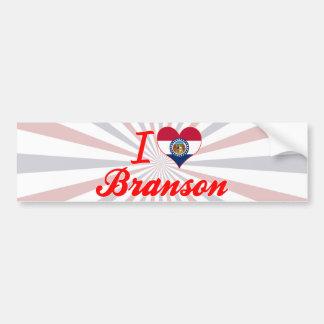 私はBranson、ミズーリを愛します バンパーステッカー