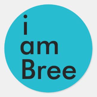 私はBreeのステッカーはです(青い) ラウンドシール